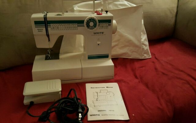 White Sewing Machine Heavy Duty Model 40 Embroidery Dressmaking 40 Delectable Ebay White Sewing Machine