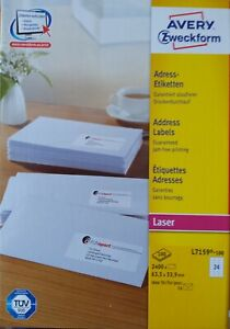 AVERY Zweckform L7159 QuickPEEL Adress-Etiketten 63,5 x33,9mm Menge nach Auswahl
