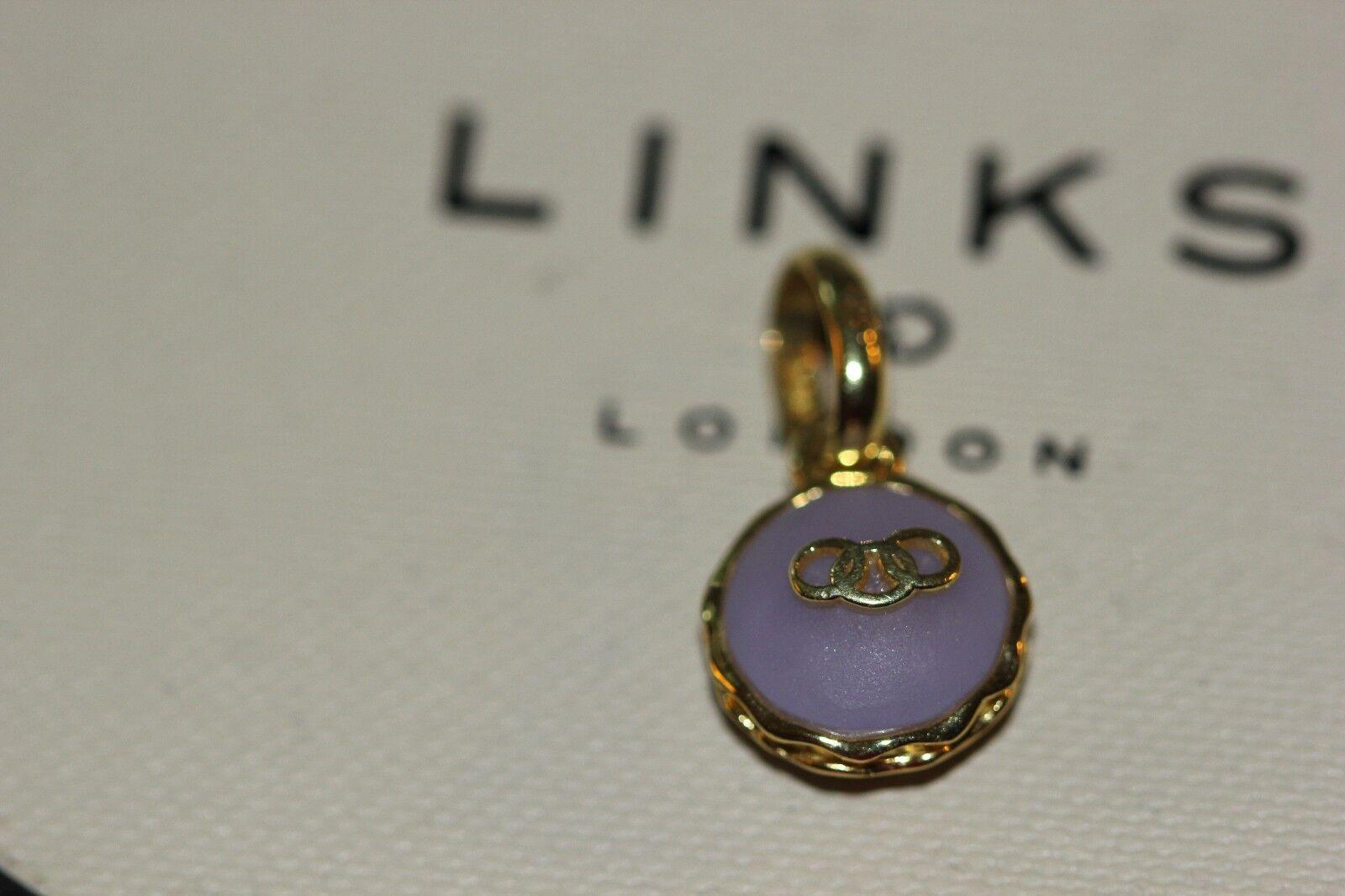 Genuine Links of London Lavender Macaron charm - 5030.2400