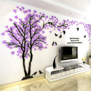 bbb6ee0f1 3D Flower Tree Home Room Art Decor DIY Wall Sticker Removable Decal ...