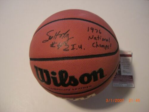 SCOTT MAY INDIANA HOOSIERS 1976 NATIONAL CHAMPS JSA/COA SIGNED BASKETBALL
