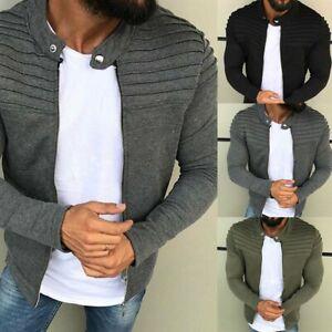 Men-039-s-Winter-Slim-Casual-Warm-Sweatshirt-Coat-Jacket-Outwear-Jumper-Sweater