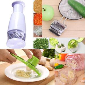 Kitchen Vegetable Chopper Food Garlic Fruit Cutter Slicer Gadgets Pressing Tool