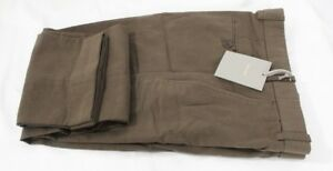 NWT! Tom Ford Sport Pants Solid Green / Brown Flat Front Cotton Size 48 EU 32 US