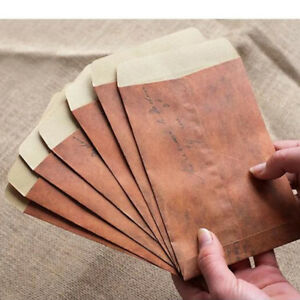 Image Is Loading Newest 10Pcs Retro Brown Kraft Paper Envelope Air