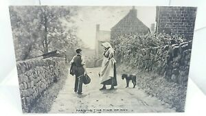 Vintage-Tucks-Postcard-Two-Villagers-Passing-the-Time-of-Day-c1910-Unposted-VGC