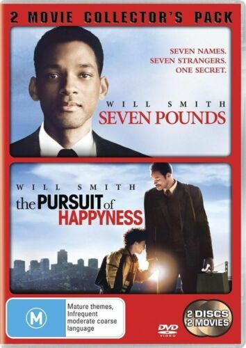 1 of 1 - SEVEN POUNDS /THE PURSUIT OF HAPPYNESS DVD 2009 2-Disc Set LIKE NEW- WILL SMITH