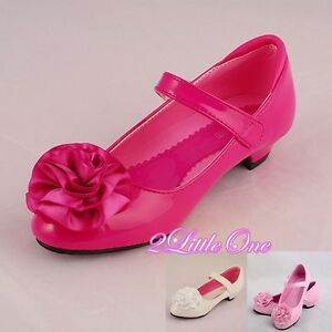 Rhinestone Mary Janes Flower Girl Party Shoes Size US Youth 4 EU36 Pink GS005
