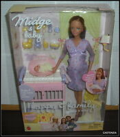 HAPPY FAMILY MOM & BABY MIDGE PREGNANT 2002 BARBIE RARE BOX NRFB