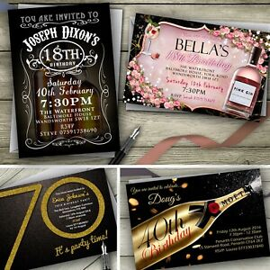 Personalised-Birthday-Invitations-Party-Invites-18th-21st-30th-40th-50th-60th