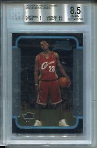 2003-Bowman-CHROME-123-Lebron-James-Rookie-Card-RC-Graded-BGS-Nm-Mint-8-5