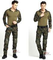 Tactical Clothing BDU Airsoft Combat Hunting Uniform MultiCam Set-Jacket Pant