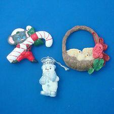 vintage Christmas ornaments Baker Snowman bird nest wreath mouse candycane