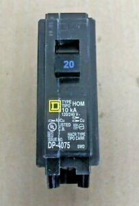Square D HOM120 1 pole 20 amp HOM Circuit Breaker