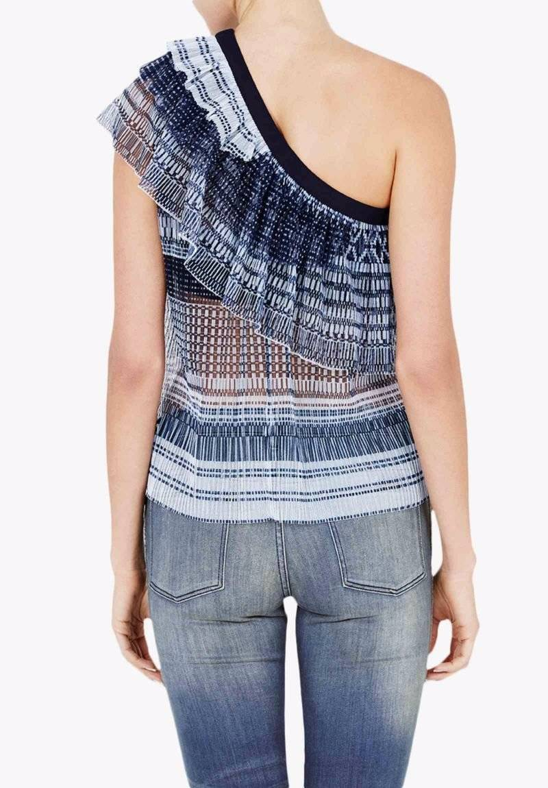 BNWT SASS Of & BIDE  Dreamer Of SASS The Tribe  Sheer One Shoulder Top - Größe 14 -  490 e93d5e