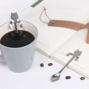 Lovely-Cat-Handle-Stainless-Steel-Tea-Coffee-Spoon-Ice-Cream-Cutlery-Tableware