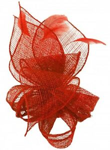 Image is loading Molly-and-Rose-Sinamay-Comb-Fascinator ad89530d205