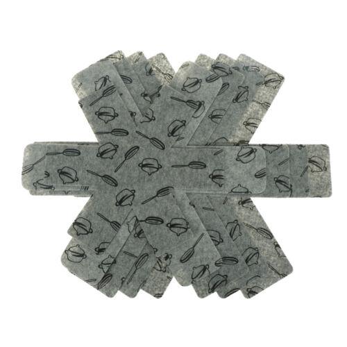3pcs//2pcs Pot /& Pan Protectors Gray Print Premium Divider Pads to Prevent R/_vi