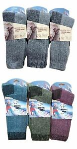 Mens-or-Womens-Fresh-Feel-Merino-Wool-Blend-Hiking-Work-Socks-3-or-6-Pack
