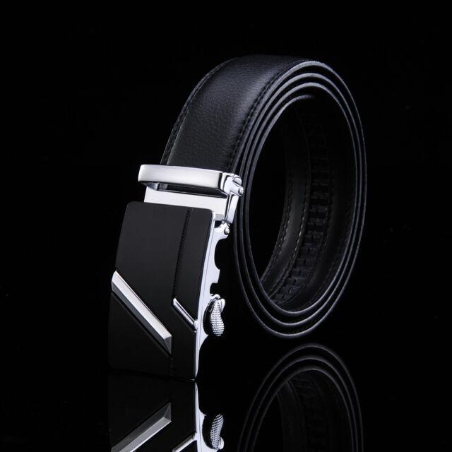 Casual Genuine Leather Automatic Buckle Men's Fashion Waist Strap Belt Waistband