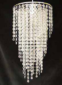 Clear-Jewelled-Acrylic-Pendant-Shade-Chandelier-Style