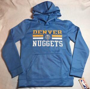 daa181796 NWT NBA Denver Nuggets Youth Hoodie Sweatshirt Medium 10 12 or Large ...