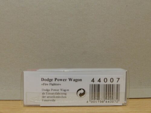 Busch 44007 DODGE POWER WAGON eviterà Fighter h0 1:87 NUOVO IN SCATOLA ORIGINALE