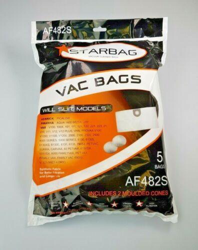 AF482 5 x Vax Canister V100 5000 Piranha Aqua 1400 Kerrick Picalow Vacuum Bags