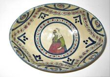 """Henriot Quimper France Woman w/ Green Shirt & Red Apron Oval Bowl 7"""""""