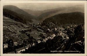 Katzhuette-DDR-s-w-AK-1953-Oberes-Schwarzatal-Panorama-mit-guter-Frankatur