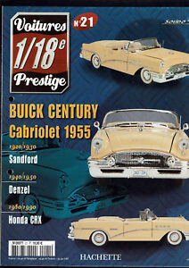 FASCICULE-VOITURES-PRESTIGE-1-18e-SOLIDO-N-21-buick-century-cabriolet-1955