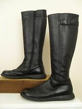 Camper Boots Size US 8.5-9 EU 39C Black Leather Knee High Side Zip