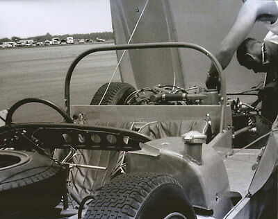 Vintage 8 X 10 1963 Road America Augie Pabst Mecom Lotus 19 Auto Racing Photo