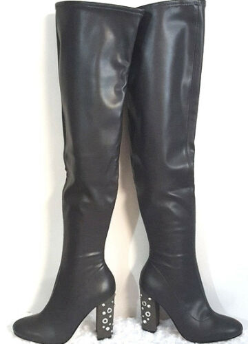 New AMERICAN GLAMOUR BADGLEY MISCHKA ADDISON OVER THE KNEE BOOTS