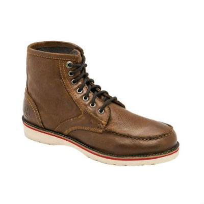 JESSE JAMES STURDY LEATHER WORK BOOTS IN COGNAC **FREE UK DELIVERY**