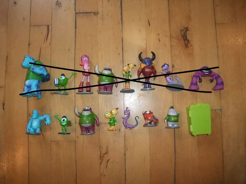 Disney, Monster Inc/University Figurer, Disney/Pixar