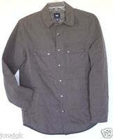 Gap Men's Women's Olive Green Brown Box Quilted Shacket Shirt Jacket