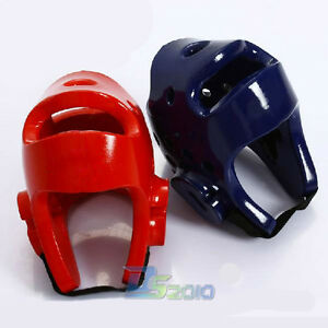 Red/Blue Boxing Tae Kwon Do TKD Training Gear Head Helmet Guard MMA Protector