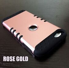 For iPod Touch 5th 6th Gen - HYBRID HIGH IMPACT ARMOR CASE COVER ROSE GOLD BLACK