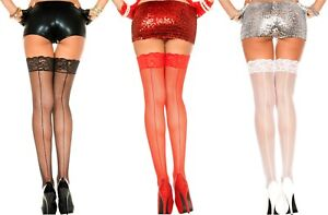 SPANDEX-STAY-UP-Lace-Top-BACK-SEAM-FISHNET-Stockings-3-COLORS-O-S-amp-PLUS