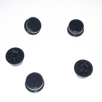 100PCS Switch CAP For Tact Switches Cover Connectors Pushbutton Round Caps Black