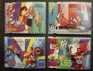 POLAND STAMPS MNH Fi3706-09 Sc3544-47 Mi3854-75 - Summer olympics Sydney,2000,** - Reda, Polska - POLAND STAMPS MNH Fi3706-09 Sc3544-47 Mi3854-75 - Summer olympics Sydney,2000,** - Reda, Polska