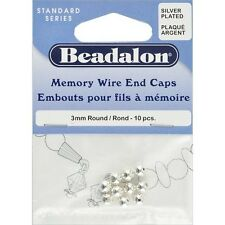 Beadalon Memory Wire End Caps 3mm - 249578