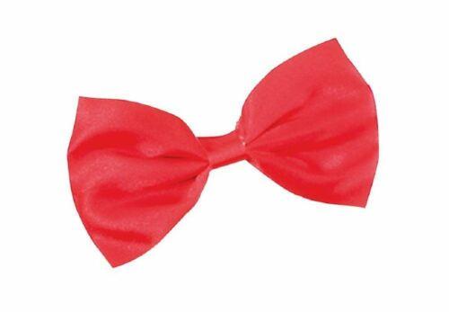Mens Boys Bow Tie Satin Plain  Red Wedding Adjustable Dickie Pretied Fancy Dress