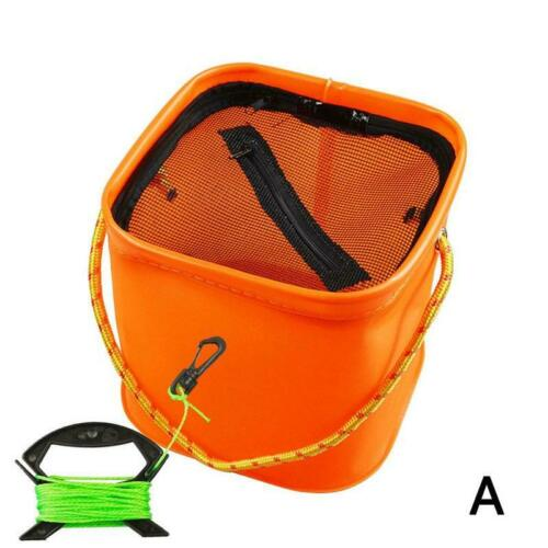 Portable EVA Fishing Bag Collapsible Fishing Bucket Live Fish Box Storage Bag