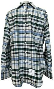 NEW-THOM-BROWNE-MEN-039-S-PLAID-BUTTON-DOWN-SHIRT-3-750