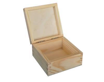 Inteligente Plain Wood-in Legno Scatola Di Immagazzinaggio Gioielli Petto Piccolo P10, 5-