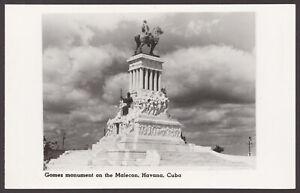 Havana-Cuba-Gomez-Monumento-Sul-Malecon-Vintage-Cunard-Vero-Foto-Cartolina