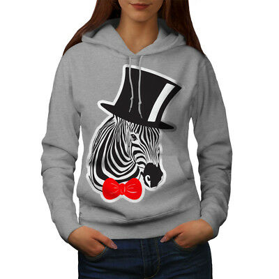 Wellcoda Sir Hippie Zebra Womens Hoodie, Crazy Casual Hooded Sweatshirt