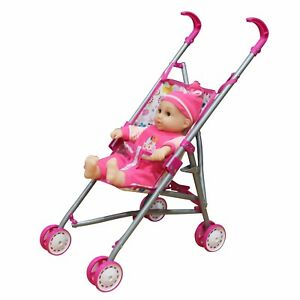 Brand-New-Fun-Toddler-Kid-Connection-Baby-Doll-Stroller-Play-Set